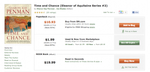 Barnes & Noble prices for paperback and digital version